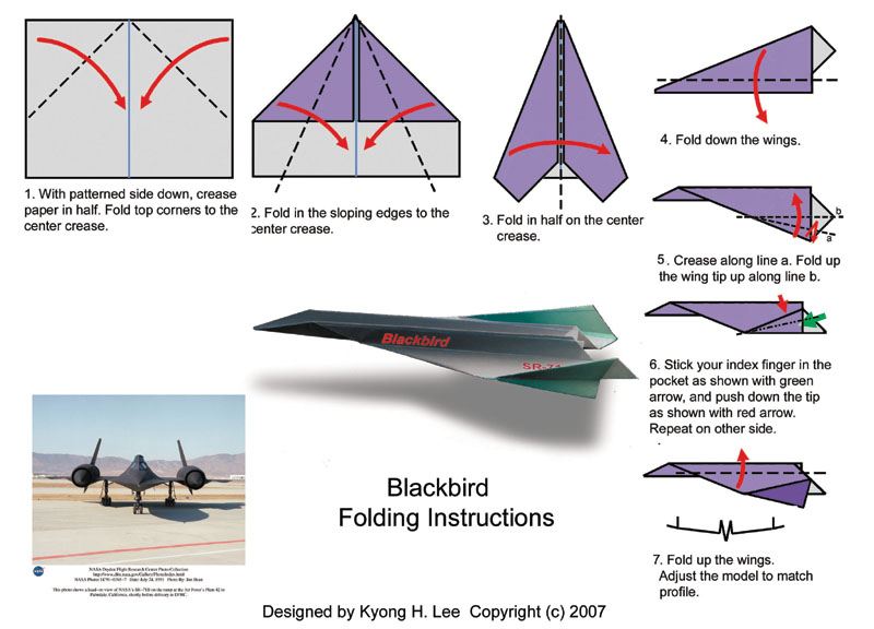 sr-71 blackbird paper plane